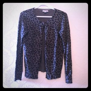 Loft Cheetah Print Cardigan Sweater